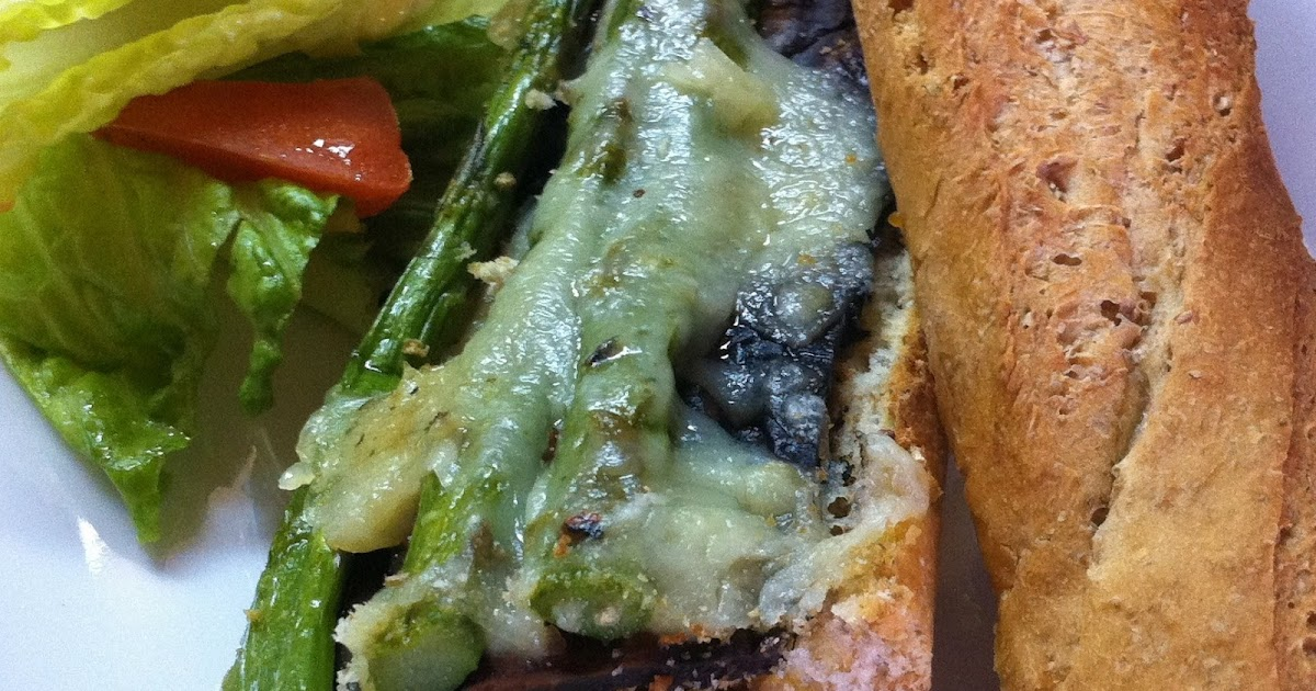 ... PLANT BASED Recipes: Grilled Portobello Mushroom & Asparagus Sandwich