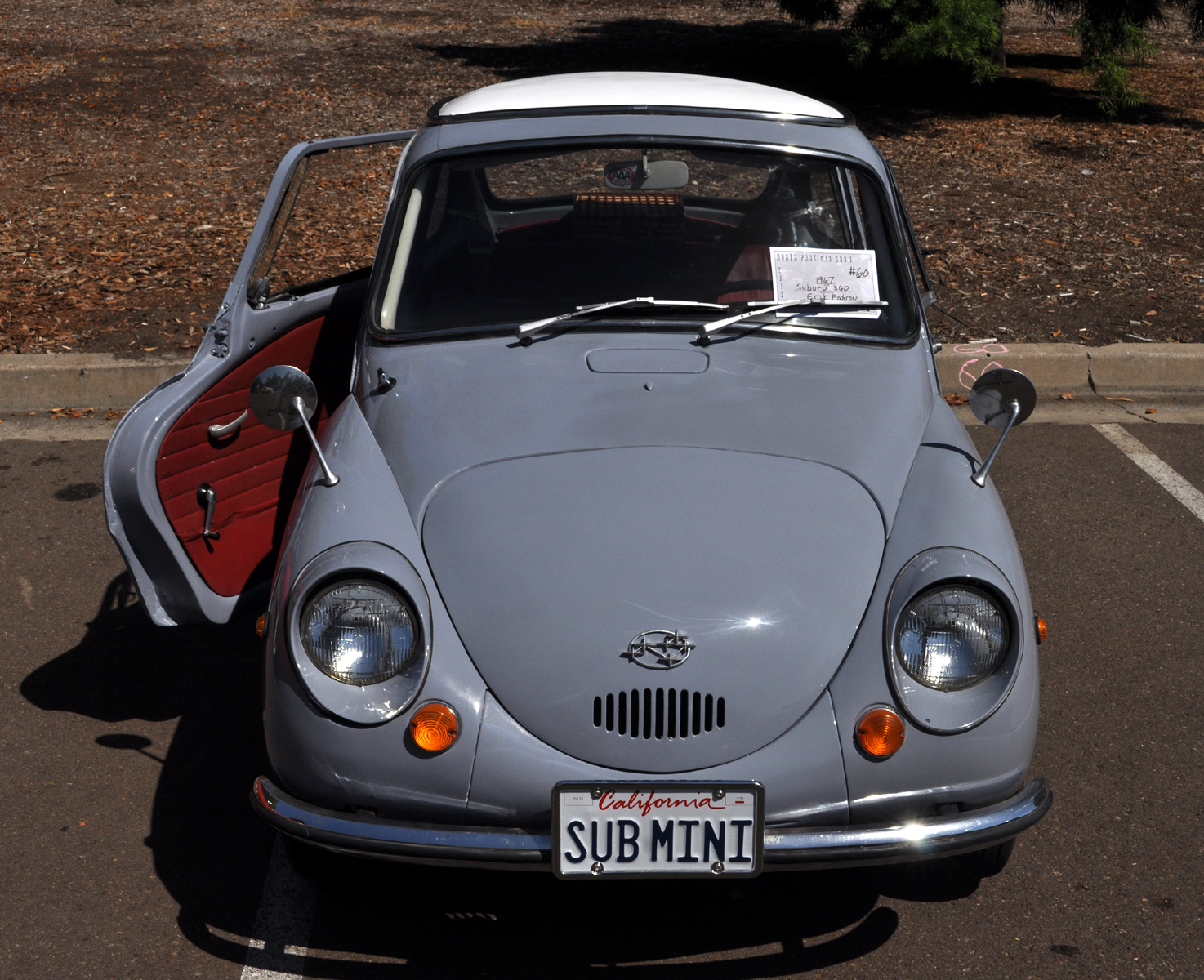 just a car guy 1967 subaru 360 so small it fits in a pickup truck bed. Black Bedroom Furniture Sets. Home Design Ideas