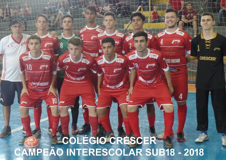 Sub18 Campeão INTERESCOLAR 2018