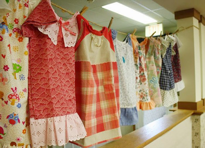 They're made of patterned cloth, but Weber always adds a special touch - 99-Year-Old Lady Sews A Dress A Day For Children In Need