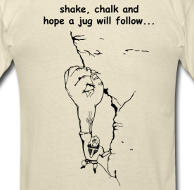 Climbing T-shirt - Shake and Chalk