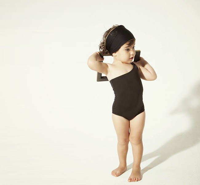 Black children's swimsuit by Little Creative Factory spring 2014