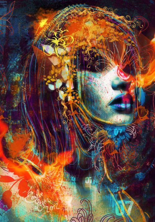 emilie leger foto manipulação digital surreal mulheres modelos sombria A sétima hora