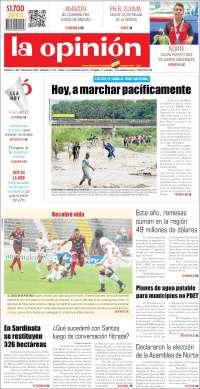 21/10/2019 PRIMERA PAGINA DE LA OPINIÓN  DE COLOMBIA