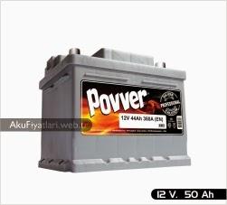 povver akü silver serisi 12 volt 50 amper