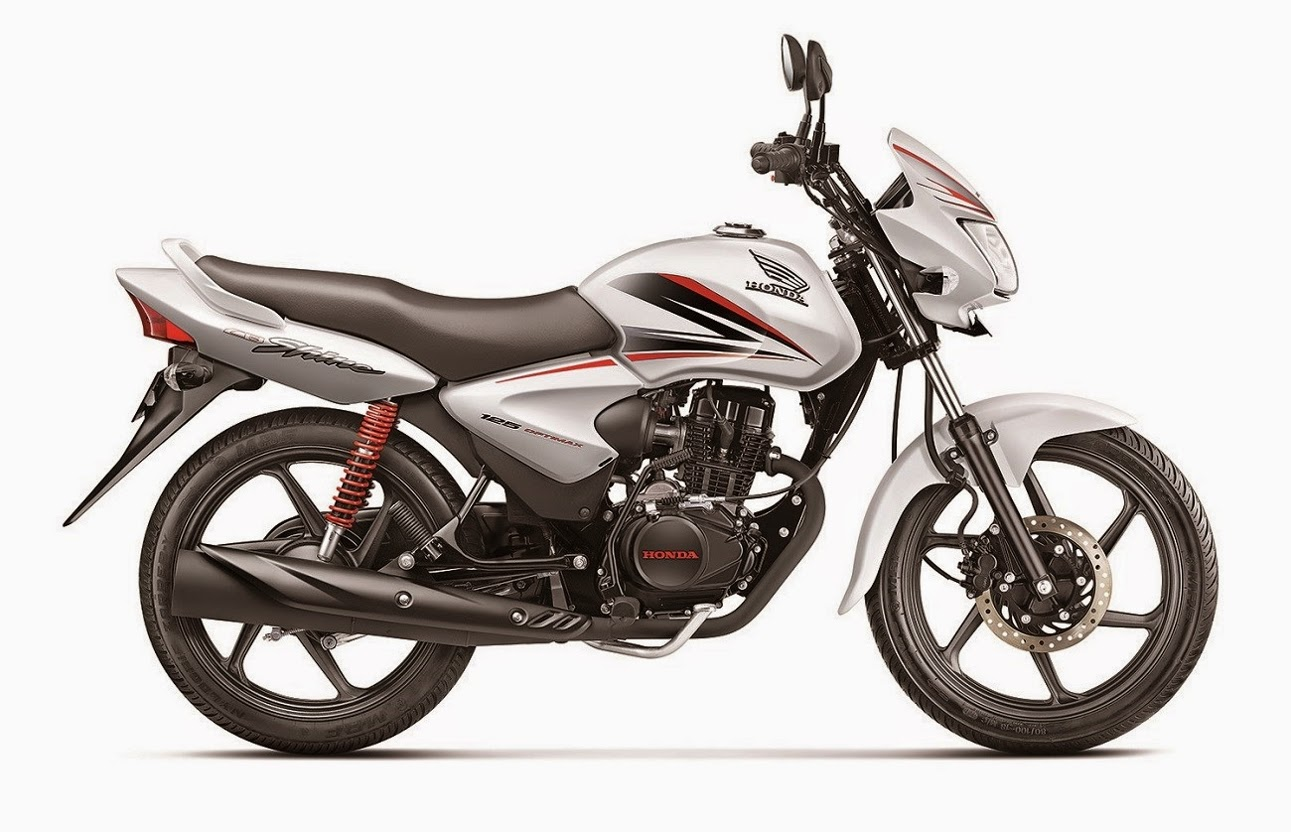 Honda shine bike picture white color