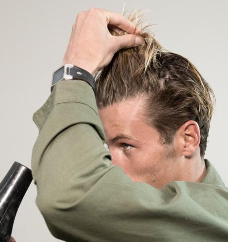 Dibentuk dengan hairdryer
