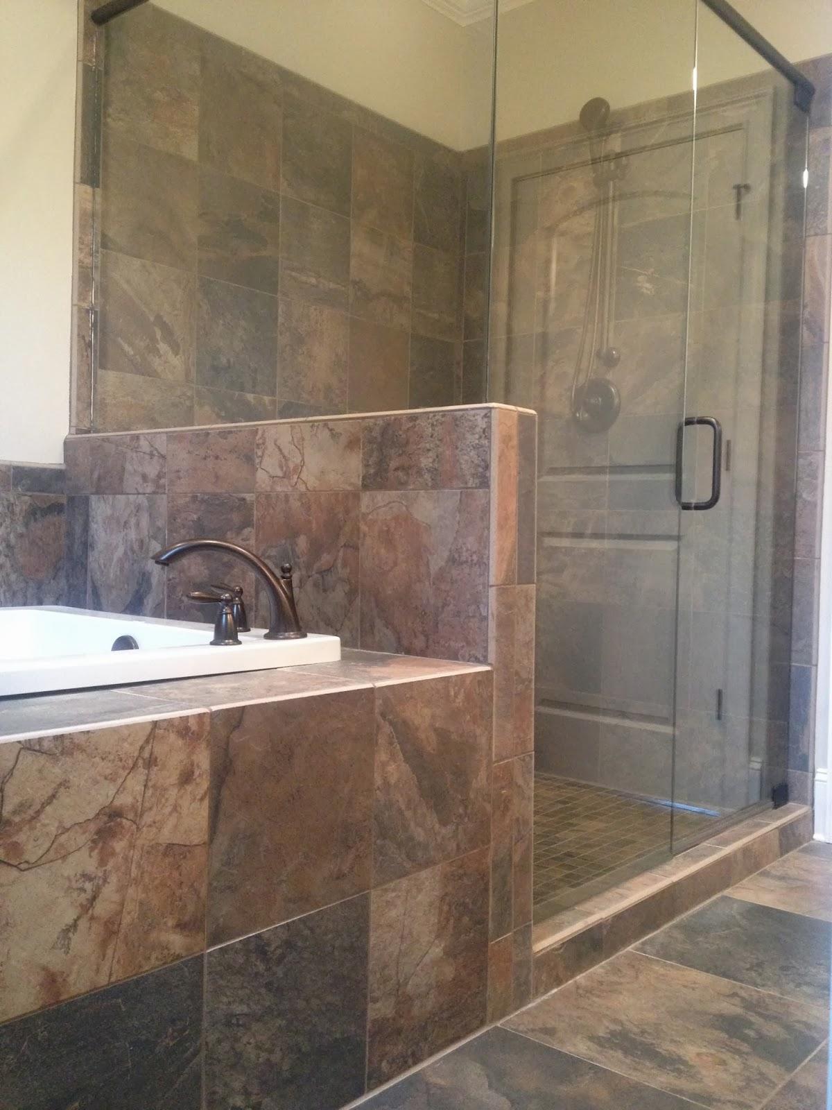 Bathroom floor tile designs pictures 2017 2018 best for Slate tile bathroom ideas