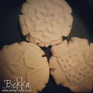 Using the Sweet Press Cookie Stamps from Stampin' Up!  These were the results - Yummmmmmmmmmmm!