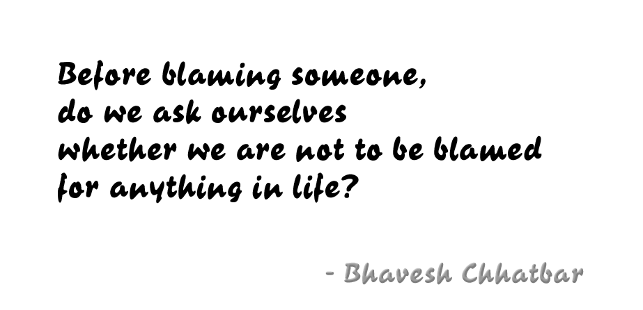 stop blaming others