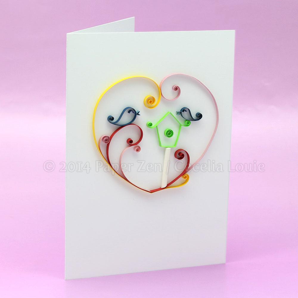 Welcome To Paper Zen Cecelia Louie Quilling A Housewarming Card