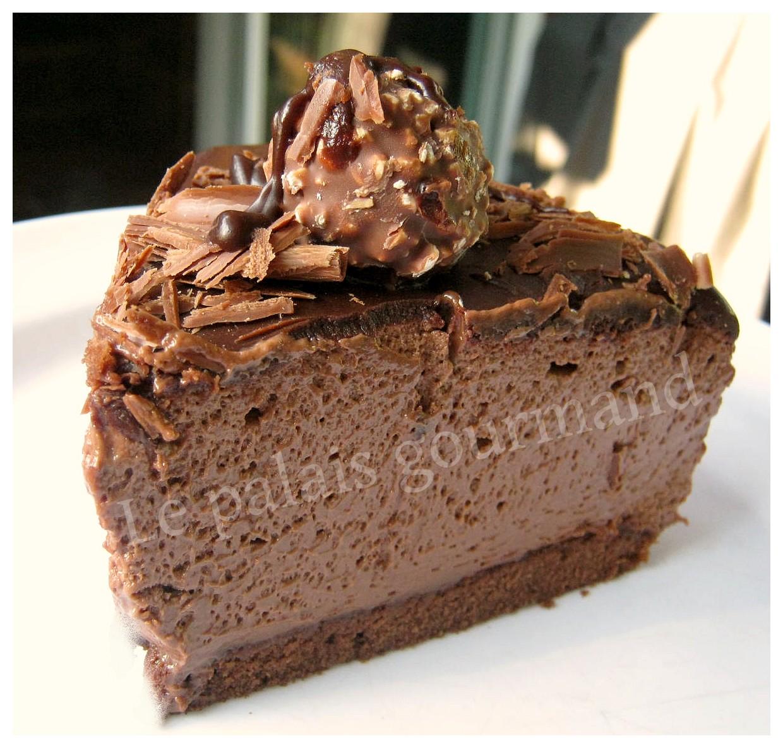 Gateau chocolat avec mousse au chocolat