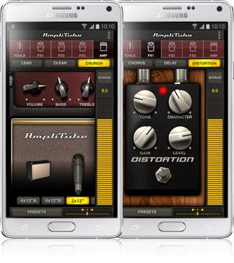 AmpliTube aplikasi pengelolah audio gitar datang untuk perangkat Android Samsung