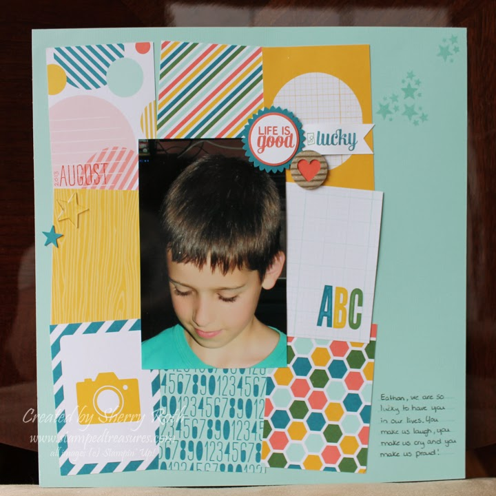 Sherrys Stamped Treasures Traditional Layout Using Project Life Cards