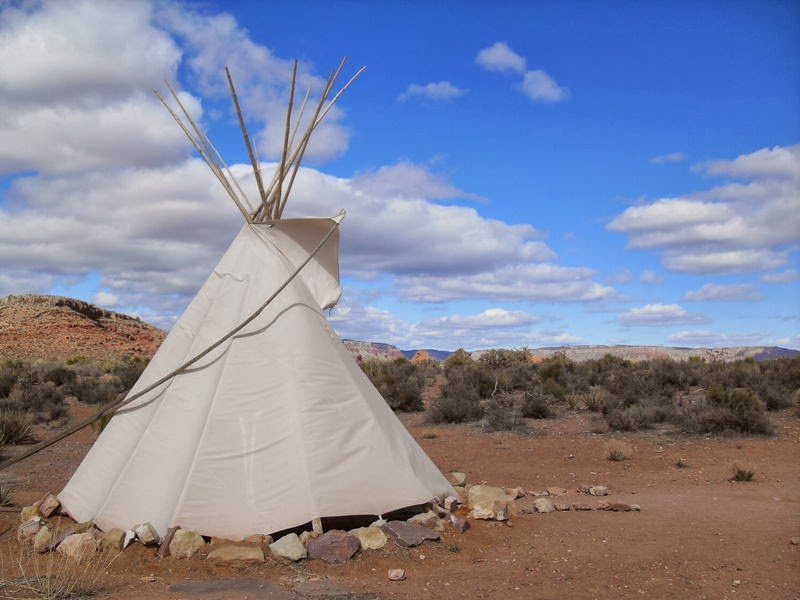 Photo d'un tipi indien