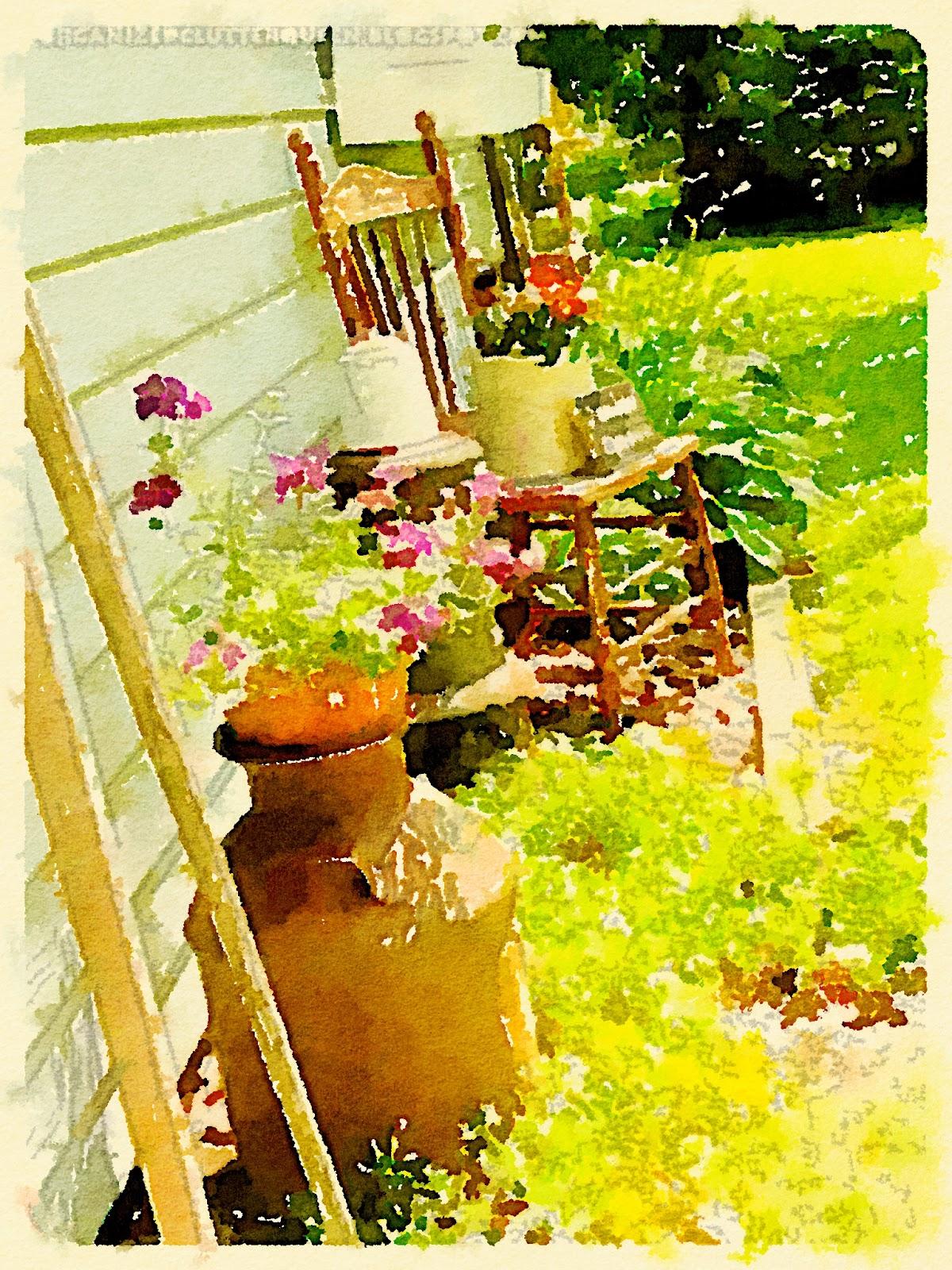 Waterlogue Junk Garden Wall www.organizedclutterqueen.blogspot.com
