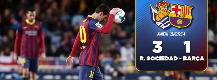 1-3 Barcelona takluk dikandang Real Sociedad