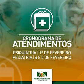 Cronograma de Especialidades Médicas - Novembro