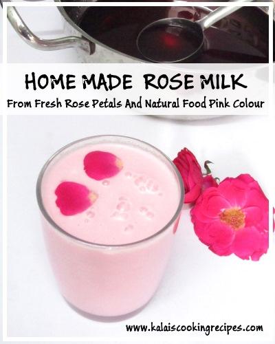 rose petals milk