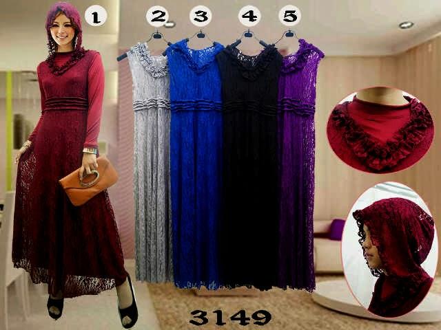 Long Dress 3149 - Fachryzka Shop | fashion | busana muslim ...