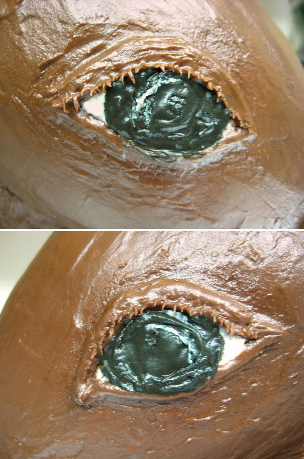 3D Horse Cake - Close-Up View of Eyes