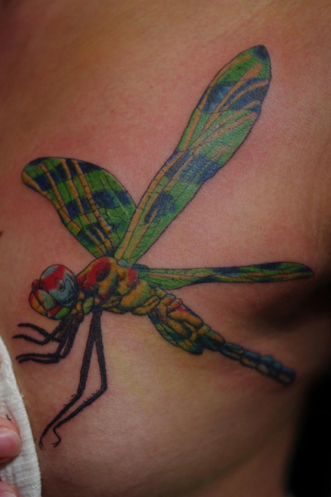 Realistic Dragonfly Tattoos Soul Inn House Tattoo:...