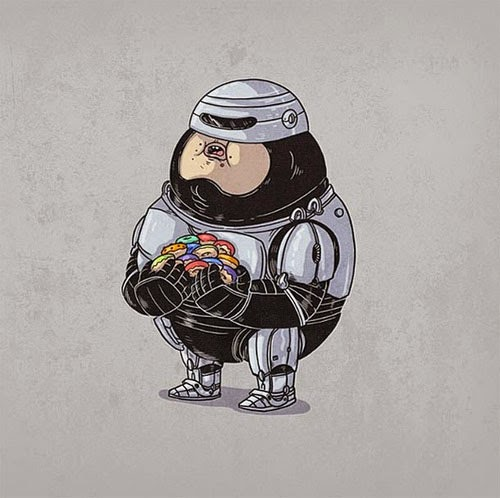 Fat Super Hero Gemuk - Fat Robocop