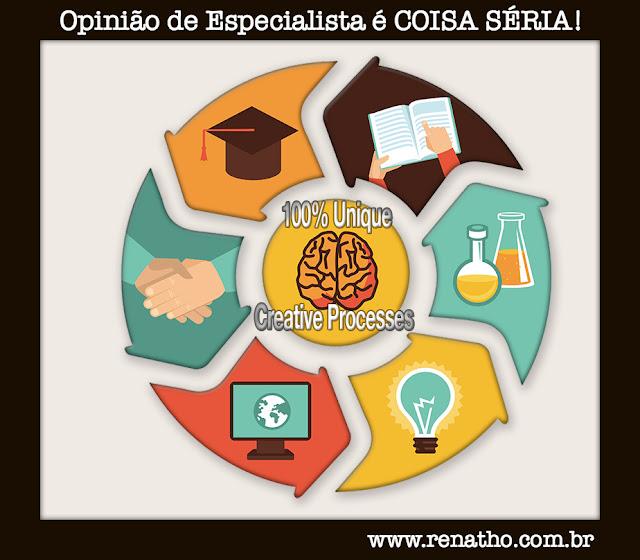 Processo criativo e a opinião do especialista - renatho.com.br