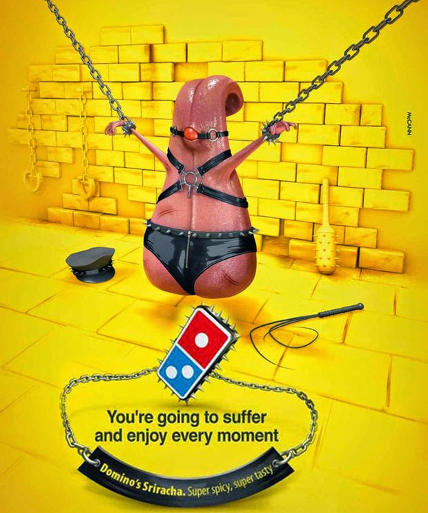 domino pizza bdsm anuncio commercial ad