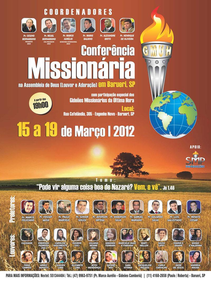 congresso gideoes 2012 Barueri download baixar pregações Sao paulo extenção assistir online
