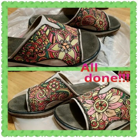 zentangled sandals finished