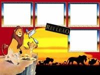 Moldura do Rei leão para 4 fotos
