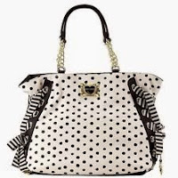White Polka Dot Purses