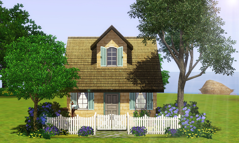 My Sims 3 Blog Start Somewhere Starter House By Camille