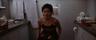 Lady about to get sucked down the toilet from Deep Rising
