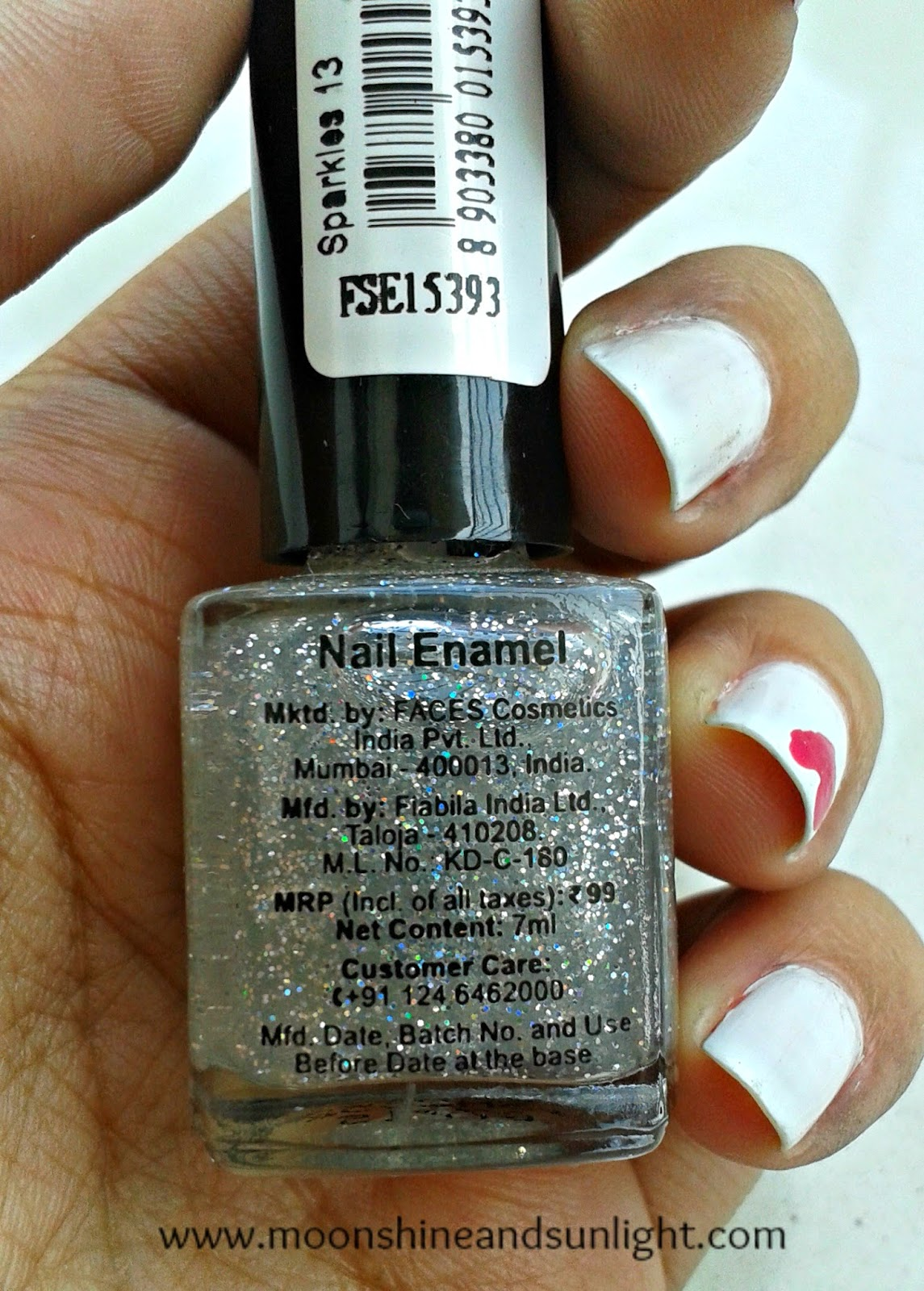 Faces splash nail polish in Sparkle review and swatches, price in India
