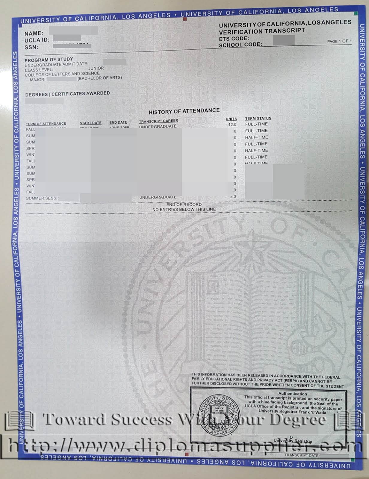 Buy ucla fake transcript ucla certificate of graduation xflitez Images