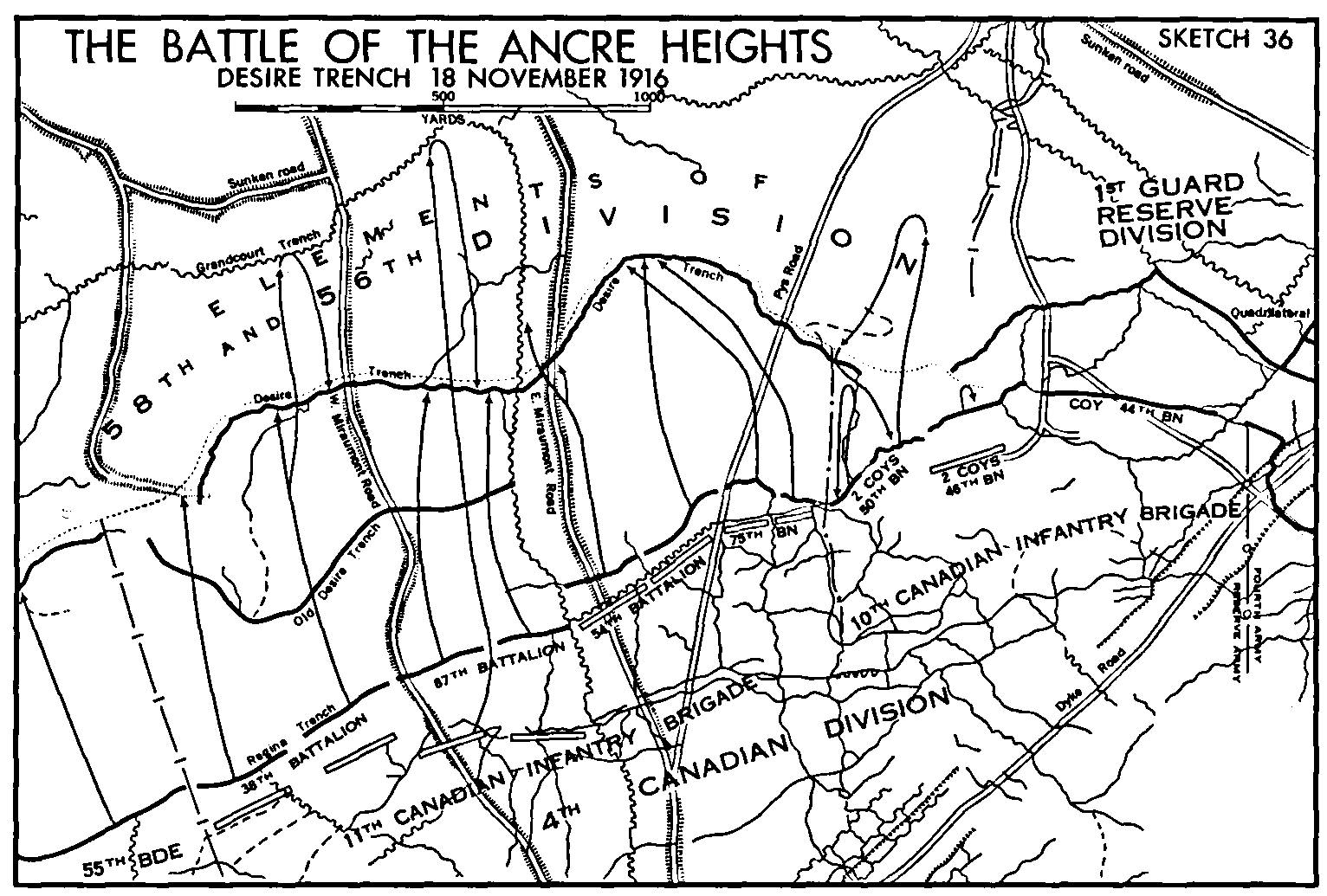 canadian expeditionary force 1914 1919 the last day of the somme Ozark Division battle map last day of the somme nov 18 1916