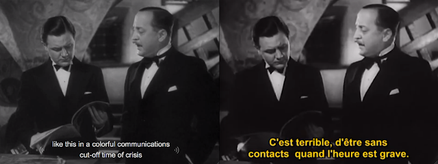 Zwei Screnshots: like this in a coloful communications cut-off time of crisis