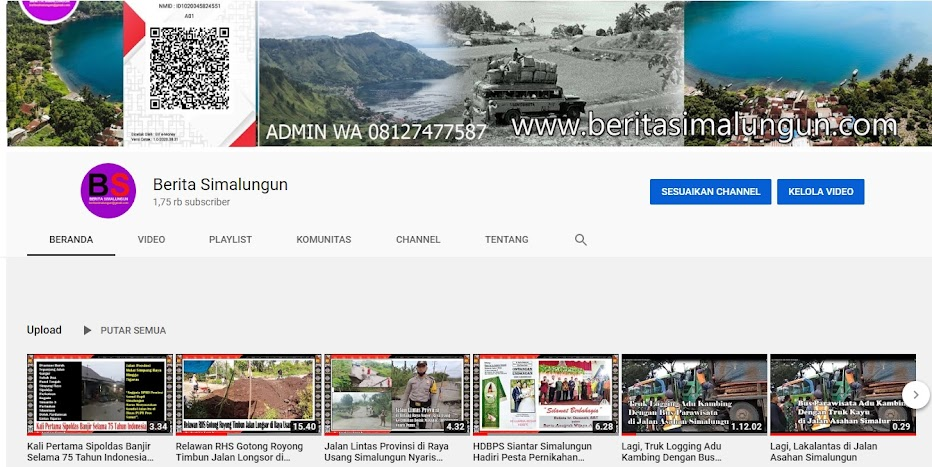 Channel YouTube Berita Simalungun