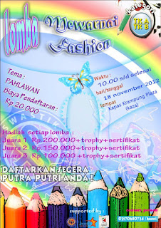 Lomba mewarnai fashion show KAZA