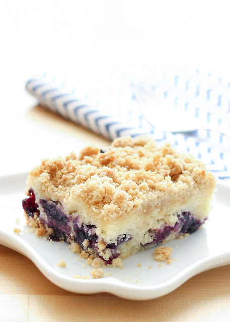 The BEST Blueberry Coffee Cake - gluten free and traditional recipes by barefeetinthekitchen.com