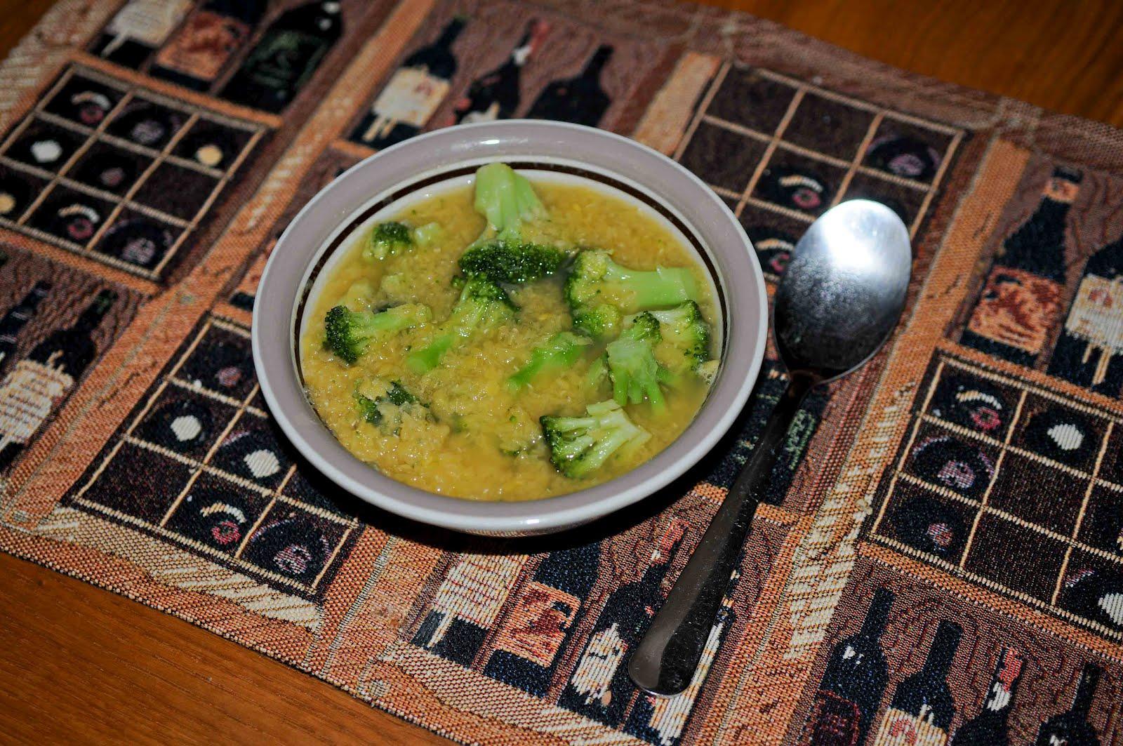 broccoli och linssoppa
