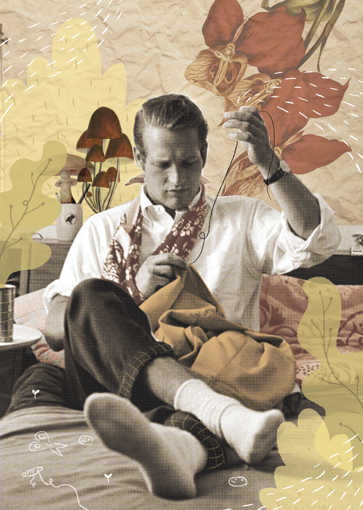 illustration, paul newman, el costurero, notebool, libreta