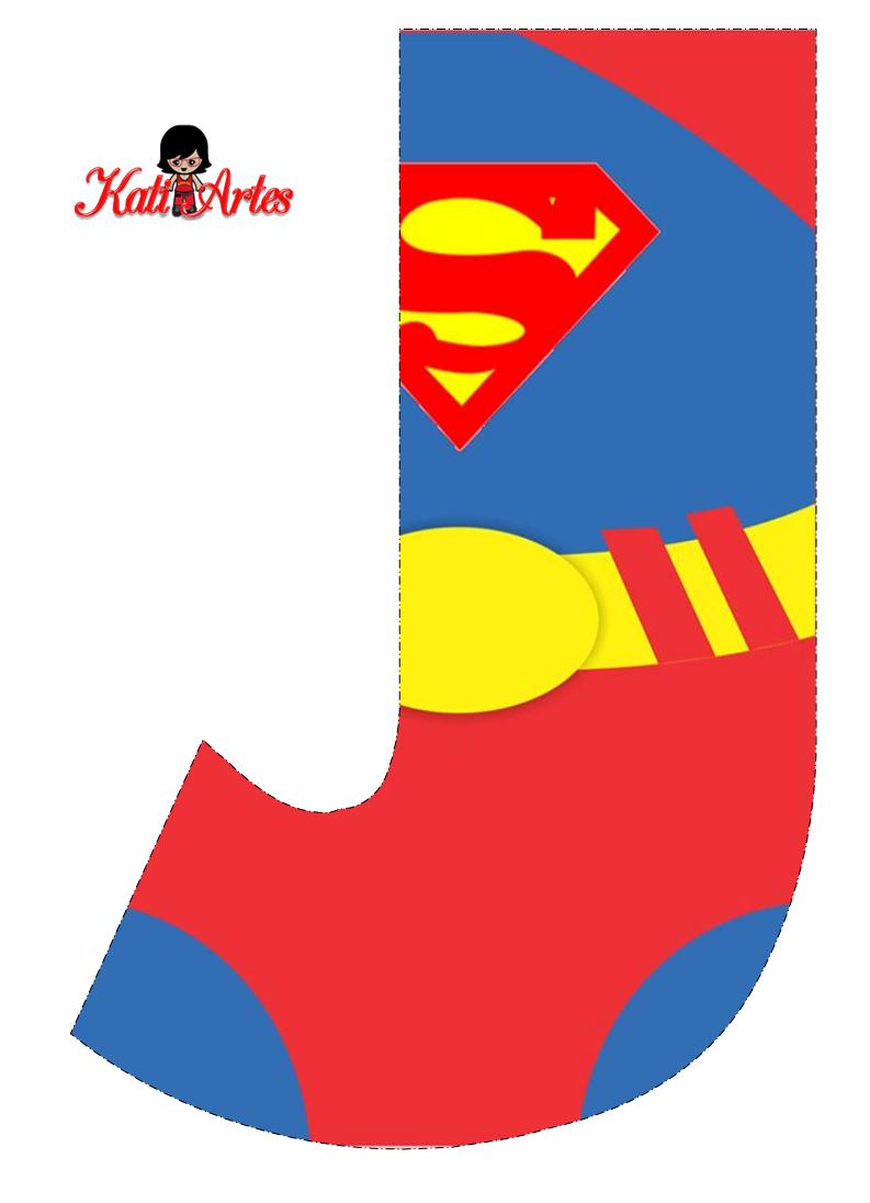 Alfabeto Gratis de Superman.   Oh my Alfabetos!