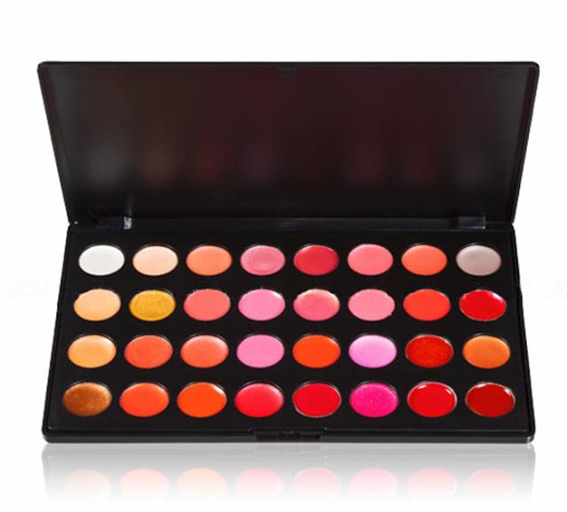 Paleta de Lip gloss com 32 cores