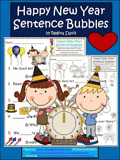 http://www.teacherspayteachers.com/Product/A-Happy-New-Year-Sentence-Bubbles-For-Literacy-Practice-1033213