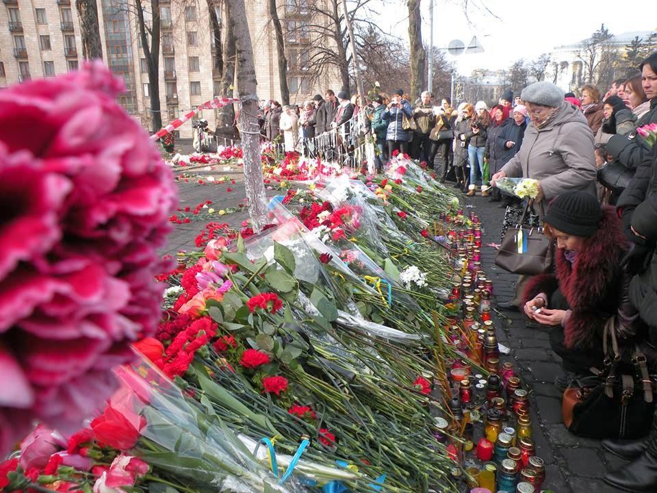 Flores para os que tombaram na Maydan