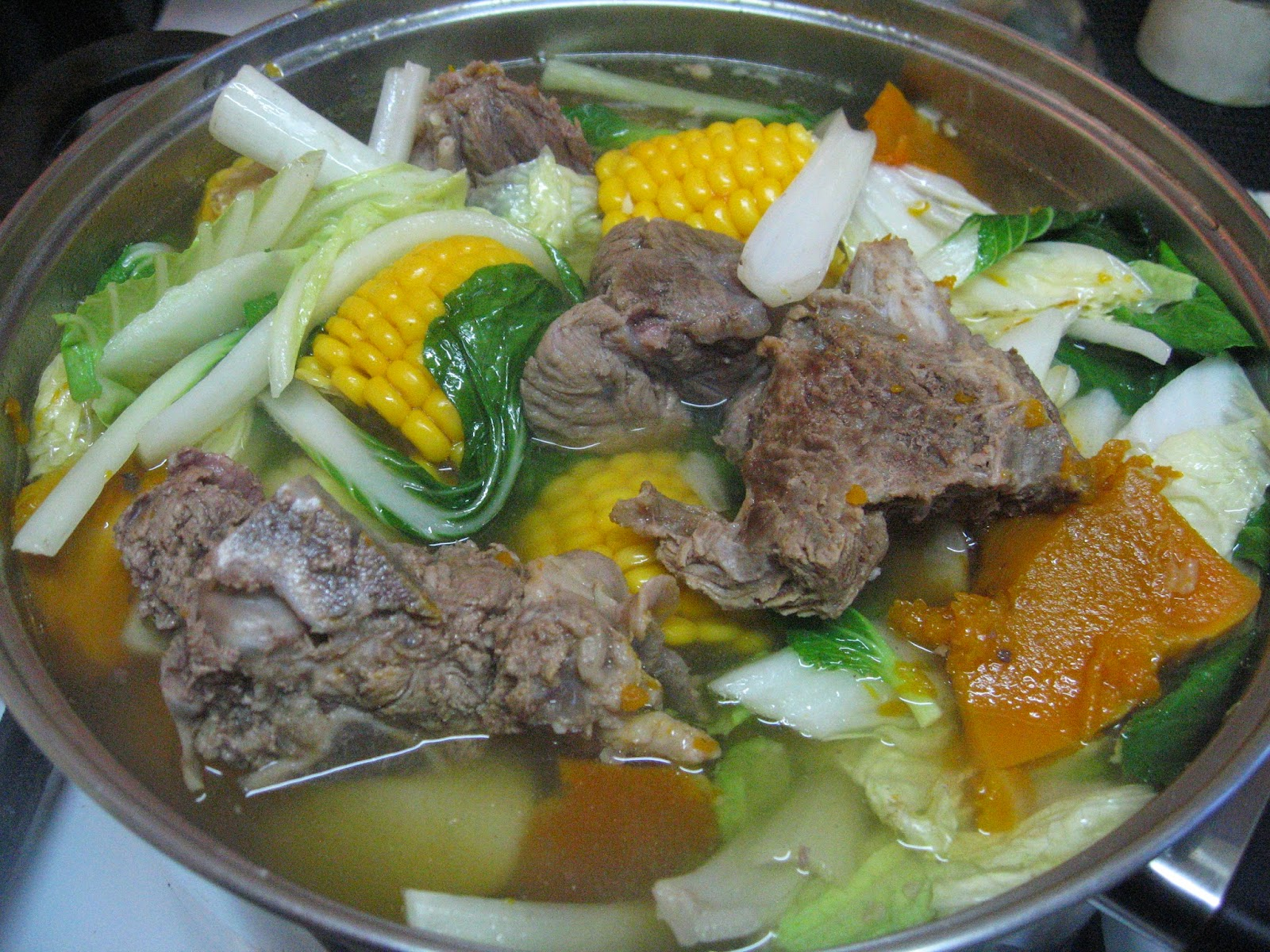 Recipe for pork bulalo