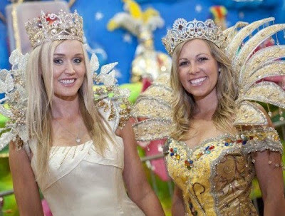 blair oneal and sara brown at mardi gras museum